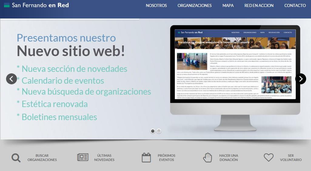 ¡Lanzamiento de la nueva versión de www.sanfernandoenred.org.ar!