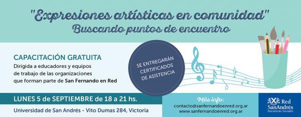 """Capacitación 5/9 """"Expresiones artísticas en comunidad"""" - Universidad de San Andrés"""
