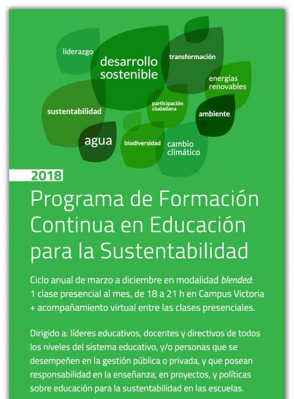 OPORTUNIDAD BECAS - Programa de Educación para la Sustentabilidad