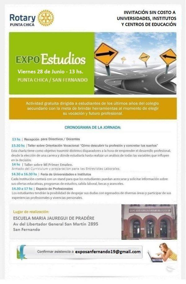 Se viene la Expo Estudios del Rotary