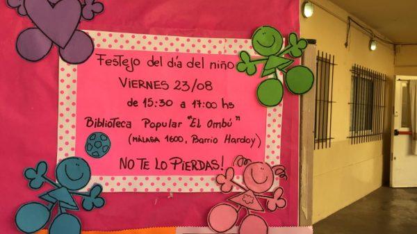 Festejo del día del niño en Biblioteca Popular El Ombú