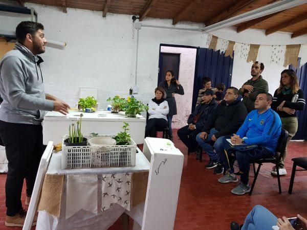 Jornada de Hidroponia en Patronato de Liberados. Delegación San Fernando