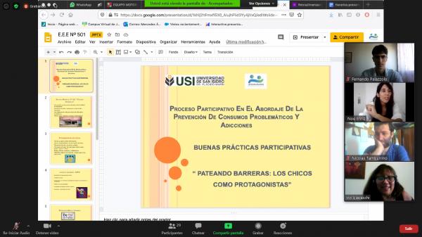 Cierre de la Diplomatura en Prevención de Consumos Problemáticos y Adicciones en el Ámbito Educativo de la Universidad de San Isidro