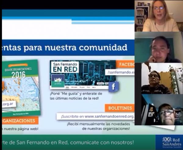 """""""¿Cómo se crean y funcionan las redes de trabajo?"""" - San Fernando en Red junto a estudiantes del Centro de Formación Profesional Casa Abierta"""