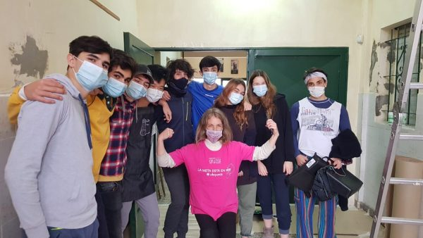 Jornada de Pintura - Voluntariado de Escuela Escocesa San Andrés en San Fernando
